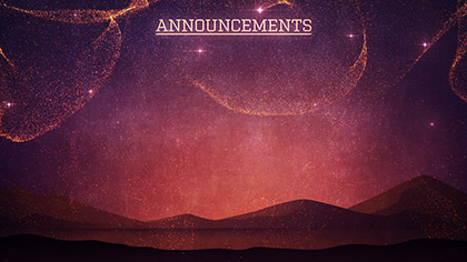 Behold Announcements