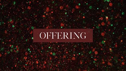Christmas Glitter Offering