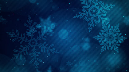Christmas Glow Snowflakes Deep Blue