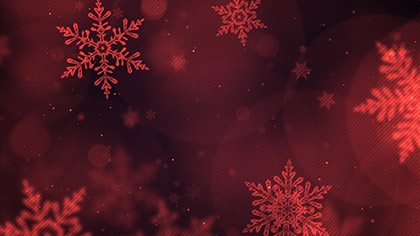 Christmas Glow Snowflakes Red