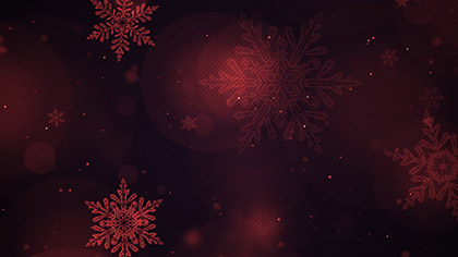 Christmas Glow Snowflakes Red Slow