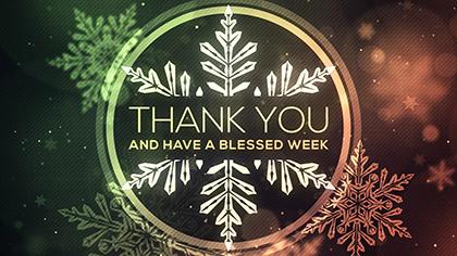 Christmas Glow Snowflakes Thank You