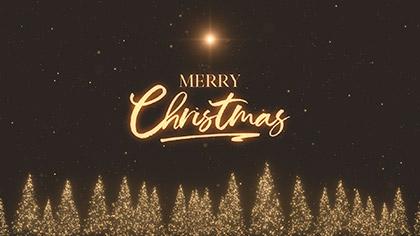 Christmas Gold Pines Merry Christmas