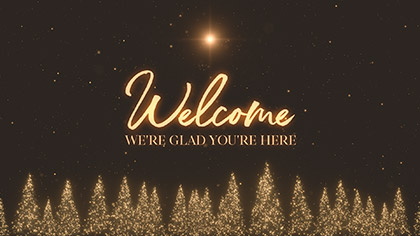 Christmas Gold Pines Welcome