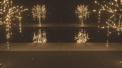 Christmas Gold Pool Closeup