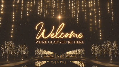 Christmas Gold Welcome