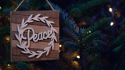 Christmas Pines Peace Ornament