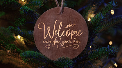 Christmas Pines Welcome