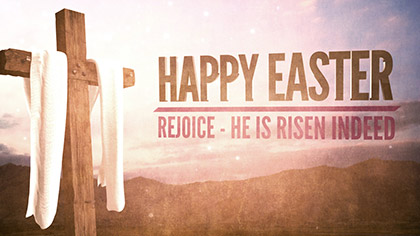 Cross Fabric Happy Easter