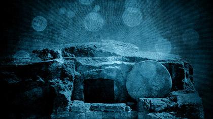 Empty Tomb Grunge Blue
