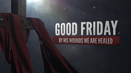 Good Friday Cross Fabric Text