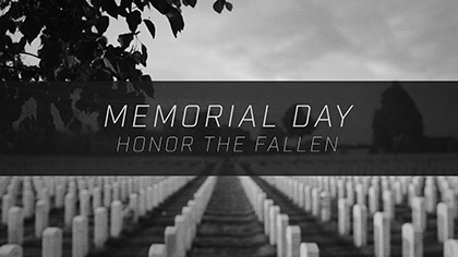 Memorial Day Honor Gravestones