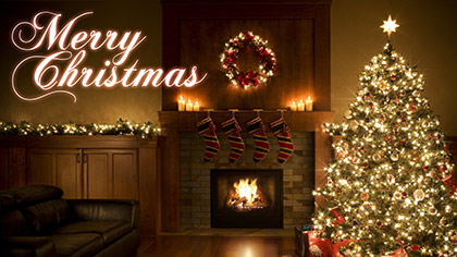 Merry Christmas Fireplace