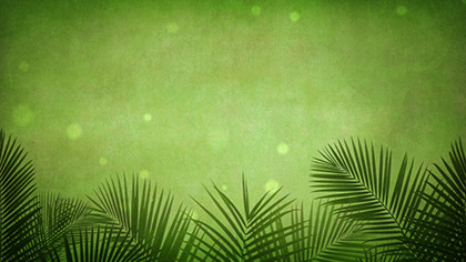 Palm Branches Green