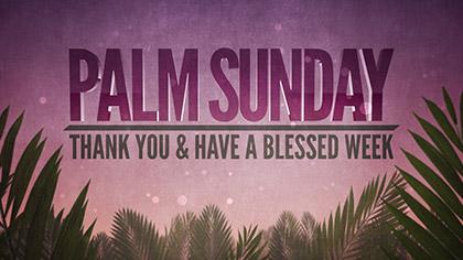 Palm Sunday Epic Thank You