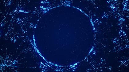 Sparkle Snowflakes Circle