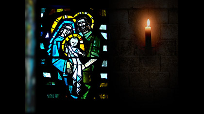 Stain Glass Nativity