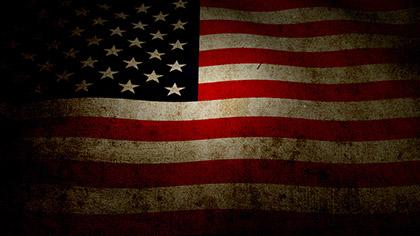 US Flag Grunge