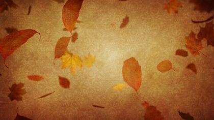 Vintage Thanksgiving Falling Leaves