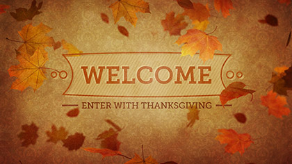 Vintage Thanksgiving Welcome