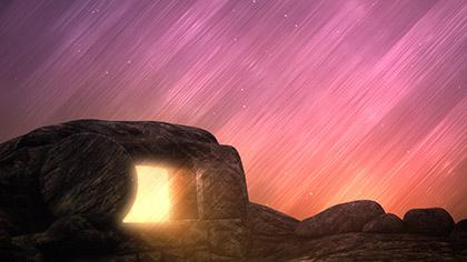 Vivid Fibers Easter Tomb Glow