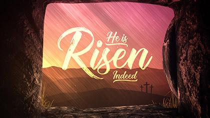 Vivid Fibers He Is Risen