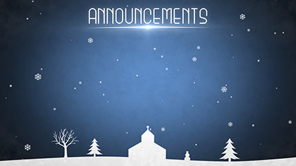 Winter Snow Announcements