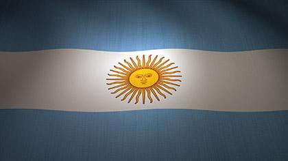 Argentina Flag Waving