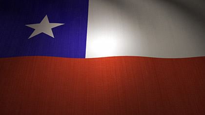 Chile Flag Waving
