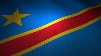 Democratic Republic of the Congo Flag Waving