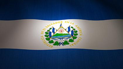 El Salvador Flag Waving