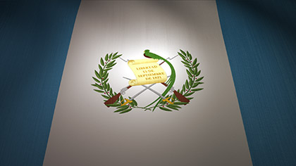 Guatemala Flag Waving