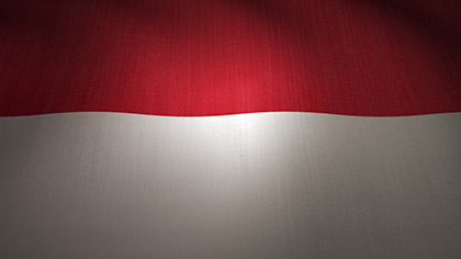 Indonesia Flag Waving