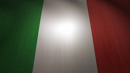 Italy Flag Waving