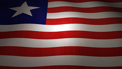Liberia Flag Waving