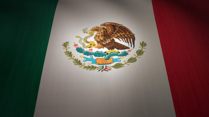 Mexico Flag Waving