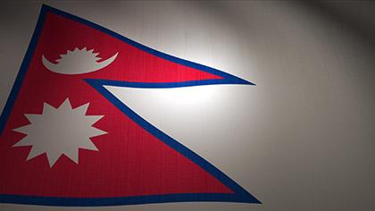 Nepal Flag Waving