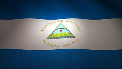 Nicaragua Flag Waving