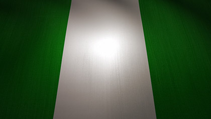 Nigeria Flag Waving