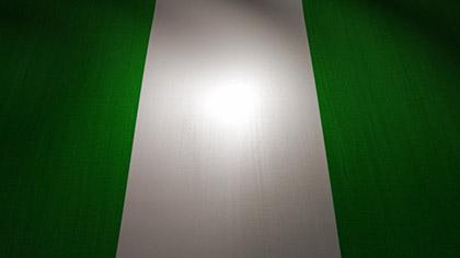 Nigeria Flag Waving