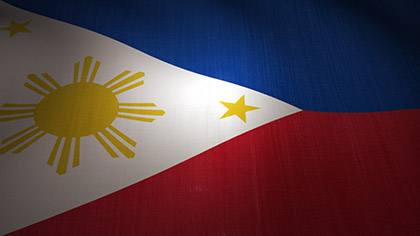Philippines Flag Waving