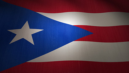 Puerto Rico Flag Waving