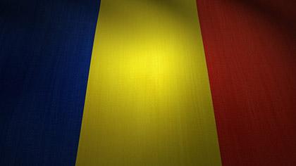 Romania Flag Waving
