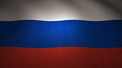 Russia Flag Waving