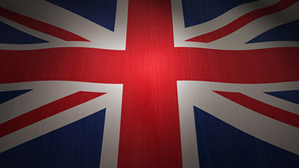 UK Flag Waving