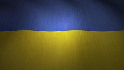 Ukraine Flag Waving