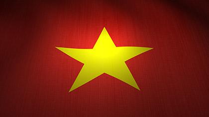 Vietnam Flag Waving
