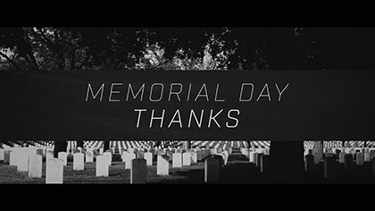 Memorial Day Thanks