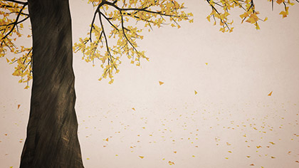 Digital Autumn Yellow Tree