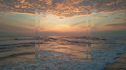Epic Summer Aerial Sunset Waves